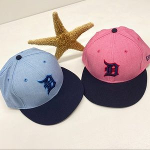 Detroit Blue or Pink 7 1/8 Fitted Hat